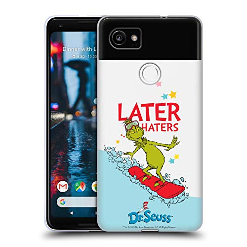 fizielle Dr. Seuss Haters Surf Gemeiner Grinch Soft Gel Huelle kompatibel mit Google Pixel 2 XL ()