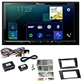 Pioneer AVH-Z5000DAB Digitalradio Android Auto CarPlay Bluetooth USB DVD Touchscreen Moniceiver Einbauset für Mercedes E Klasse W211 CLS W219