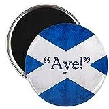 CafePress–Aye, Schottland. Magnet Magnete–5,7cm rund Magnet, Kühlschrank Magnet, Button Magnet Stil