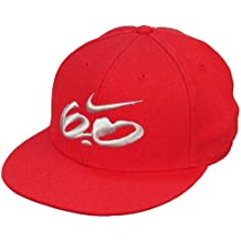 Nike 6.0 Logo Fitted Gorra de Visera Plana (372795 100 (Colour Rojo) Red