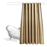 Coocle Duschvorhang, Badezimmer Vorhänge Polyestergarn 3D Ausdrücken für Duschen mit Freiem Kunststoffhaken (120x200cm)