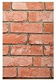 #9: Assamble 3D collections Bricks Pattern Wallpaper (Red)