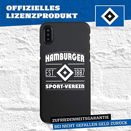 Hamburger SV Case - Wappen - Schutzhülle passend für das Apple iPhone XS und iPhone X - Schwarz