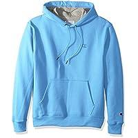 Champion Men's Powerblend Pullover Hoodie, Swiss Blue, Medium