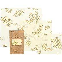 Bee's Wrap Lot de 3emballages alimentaires Tailles assorties Beige