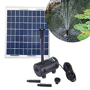 kit pompe solaire 470l h pour bassin de jardin avec. Black Bedroom Furniture Sets. Home Design Ideas