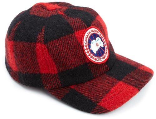 Canada Goose Herren Merino Ball GAP, Herren, Buffalo Plaid (Plaid Ohrenklappen Cap)