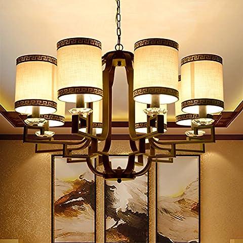 LINA-Salotto Cinese lampada lampadario moderno ristorante retrò camera da letto di ferro di luce a soffitto