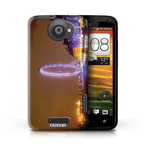 Kobalt® Imprimé Etui / Coque pour HTC One X / Big Ben conception / Série Londres Angleterre London Eye