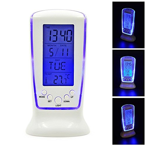 Royals Digital 510 Square Clock Calender Led Light Alarm Clock With Light...