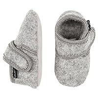 Celavi Wool Girls Boys Shoes Baby Toddler Soft Sole Prewalker First Walker Crib Shoes Grey Size: 7-8M Toddler/18-24 Months