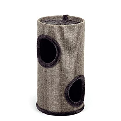Beeztees Cat Scratching Post Cat with Caves and Surface 'Stina' Grey 70cm 1
