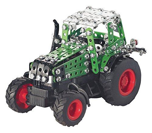 RC Auto kaufen Traktor Bild 3: Tronico 09521 - Metallbaukasten Traktor Fendt 800 Vario mit Kippanhänger und Fernsteuerung, Maßstab 1:64, Micro Serie, grün, 451 Teile*