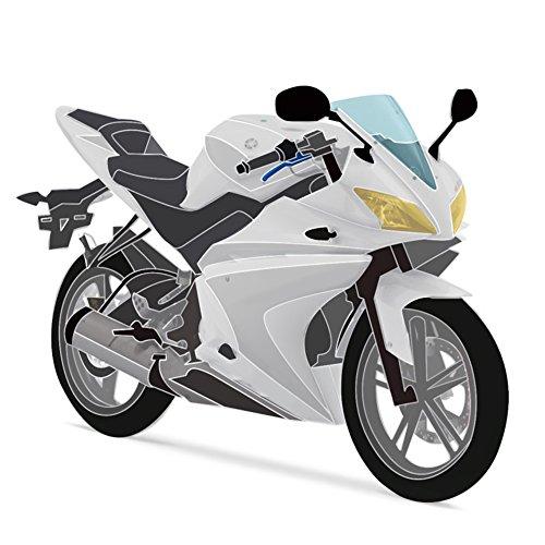 Yamaha YZF-R125 08-13 Vollverkleidungsset (20 Stück) Weiß / Schwarz