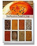 Southwestern Pumpkin Soup – 8 Gewürze Set für den Amerikanische Kürbissuppe (54g) – in einem schönen Holzkästchen – mit Rezept und Einkaufsliste – Geschenkidee für Feinschmecker von Feuer & Glas