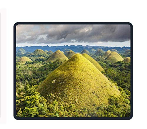 """Preisvergleich Produktbild Natural Rubber Mouse Pad Printed with Philippines Hill Forest Cloud Stitched Edges 11.8""""X9.85"""""""