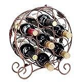 Casiers À Vin Casier À Vin sur Pied Casier À Bouteilles Décoration De Cave À Vin 7 Bouteilles (Color : Brass, Size : 28 * 14 * 35.5cm)