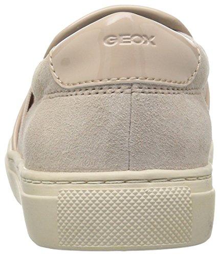 Geox D Trysure B, Scarpe da Ginnastica Basse Donna Beige (SKINC8182)