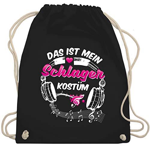 Karneval & Fasching - Das ist mein Schlager Kostüm - Unisize - Schwarz - WM110 - Turnbeutel & Gym Bag (Witzige Gruppe Kostüm)
