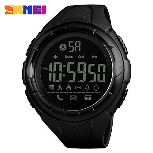 calistouk Smart Watch Sport wasserdicht Bluetooth Smart Watch Phone Mate für Android iOS, schwarz