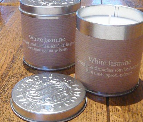 Bougie Boîte métal – édition limitée au jasmin blanc par St eval Candle
