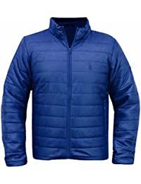 SoulStar Men's Padded Quilted Lightweight Jacket Packa Puffa Coat Size