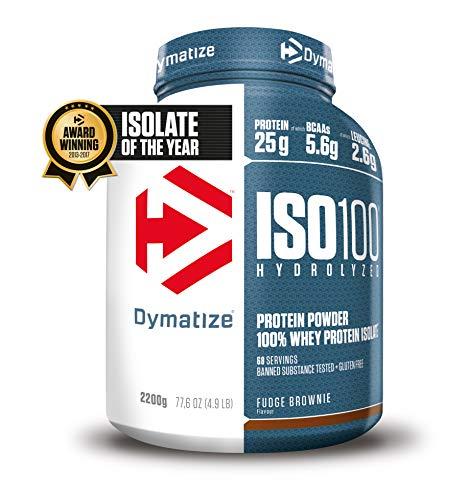 Dymatize Whey Protein Hydrolysat + Isolat – Premium Eiweißpulver – Protein Shake / 2,2 kg Fudge Brownie