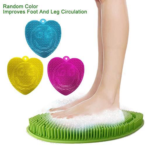 Fußwäscher Pad Massager für Männer/Frauen Druckplatte Matte Gesund Entspannend Tiefenreinigung Peeling SPA Fußbürste Kissen