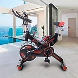 Riscko Bicicleta Spinning Pro Ergonomic, Sistema Silent MAX, Disco inercia 24kg Máxima Calidad, Pantalla LCD, Pulsometro Digi Premium (Negro)
