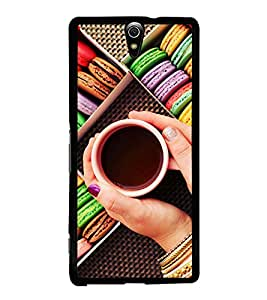 Colourful Macarons and Tea 2D Hard Polycarbonate Designer Back Case Cover for Sony Xperia C5 Ultra Dual :: Sony Xperia C5 E5533 E5563