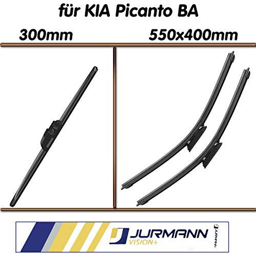 Preisvergleich Produktbild Jurmann Trade GmbH® 3er Komplett-Set Aero Scheibenwischer Vorne 550 / 400mm & Hinten 300mm Picanto; BA