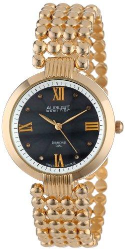 August Steiner AS8065YG - Reloj de cuarzo para mujeres, color dorado