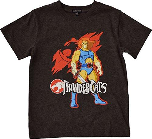 Thundercats Jungen Löwe-o Kurzarm T-Shirt Top[5-6 Jahre][Holzkohle] (Top Kurzarm-pj)