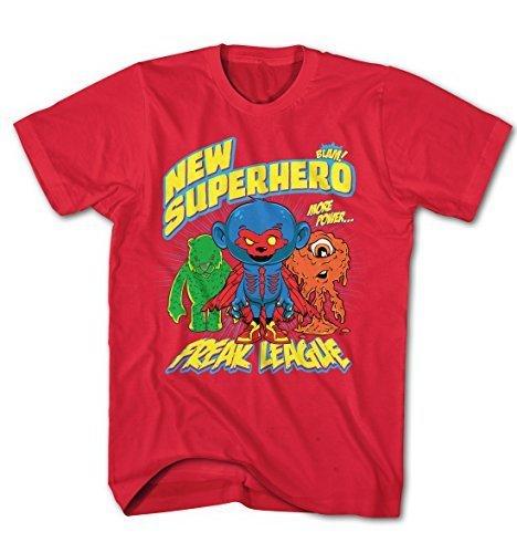 Herren T-Shirt Super Hero Freak Liga Comic Cartoon Game Movie Rot