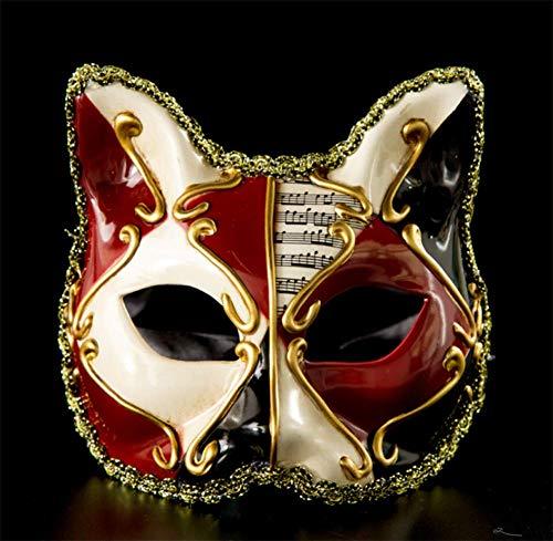 Adult Kätzchen Kostüm - FACAI Kätzchen Masken Kinder Kunststoff kostüm Maske Partei Maske Party Halloween kostüm