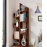 Bücherregale HUO Boden Kreative Baumförmigen Einfache Montage Lagerregal Wohnzimmer Rack Multi-Color Optional (Farbe : Teak)