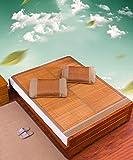 SXTYRL Matratzenauflage, faltbar, Bambus, Sommer-Schlafmatratze, für Studenten, Doppelbetten, Doppelbett-Größe/Queen-Größe (180 x 200 cm), Doppelbett