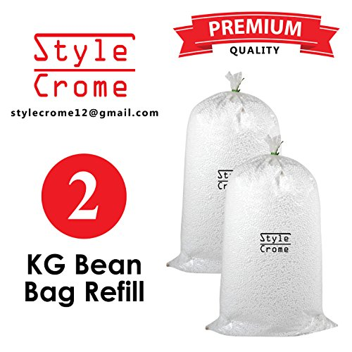 Style Crome A-Grade Filler for Refilling Your Existing Bean Bag 2 Kg, Size 8 to 10 Mm