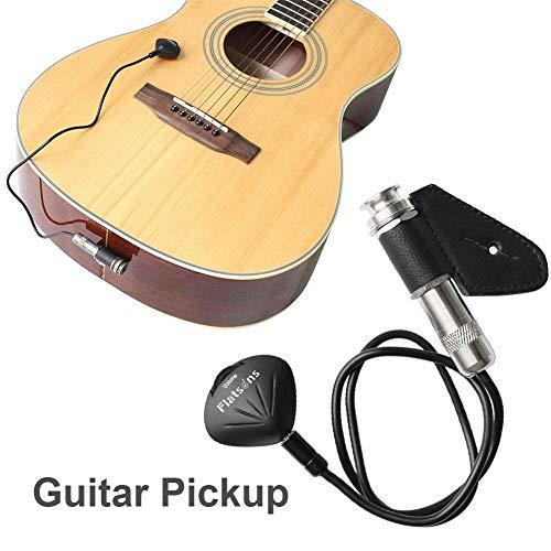 Akustikgitarre, Piezo-Kontakt Mikrofonwandler für Gitarre, Ukulele, Violine, Cello, Banjo, Kalimba, Mandoline (Ukulele Beste Tuner)