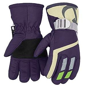 7-Mi Kinder Winter warme Handschuhe für Skifahren/Radfahren Kinder Fäustlinge für 3 bis 6 Jahre alt