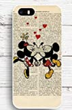 Coque iPhone 7 Mickey et Minnie coupure de journal love