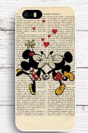 Mickey Journal - Coque iPhone 5/5s Mickey et Minnie coupure