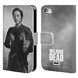 Head Case Designs Offizielle AMC The Walking Dead Glenn Doppelte Aussetzung Brieftasche Handyhülle aus Leder für iPhone 4 / iPhone 4S
