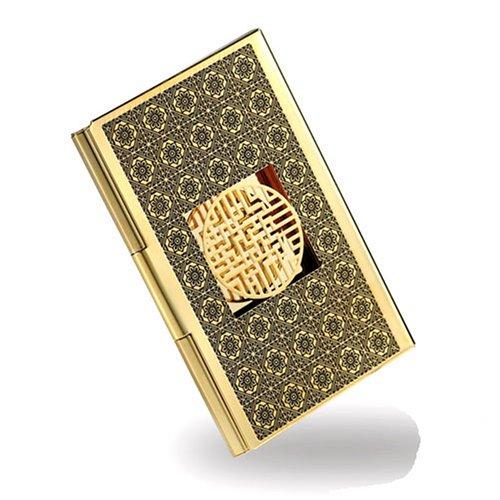 Vergoldetes Visitenkarten- und Kreditkartenetui, handgefertigt