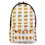New QQ Printing Emoji Backpack Canvas Travel Satchel Cute Gril School Rucksack
