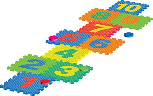 Sunta 12-inch (10mm) - 10pieces Foam Hopscotch Set, Multi Color