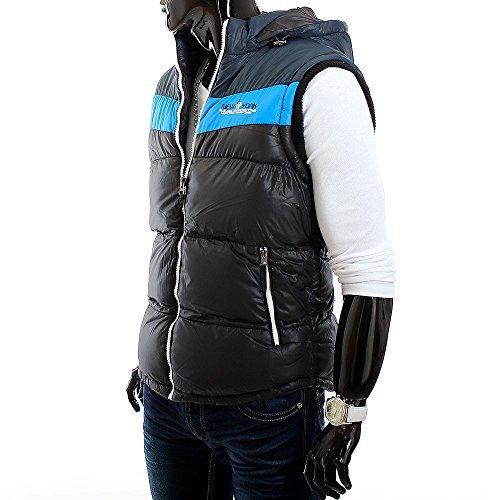 Gilet de luxe Côte ID1074 la capuche pour hommes (plus de couleurs) Schwarz