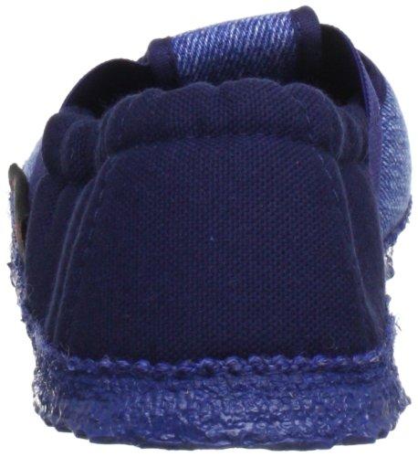Giesswein Aichach Jungen Flache Hausschuhe Blau (528 / dunkle jeans)