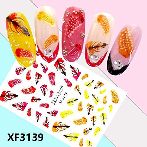 LCFCJK Nagel-Aufkleber Nail Sticker Aufkleber, Nagel Dekorative Aufkleber DIY Selbstklebende Nagel Design Aufkleber (10 Fotos), A5