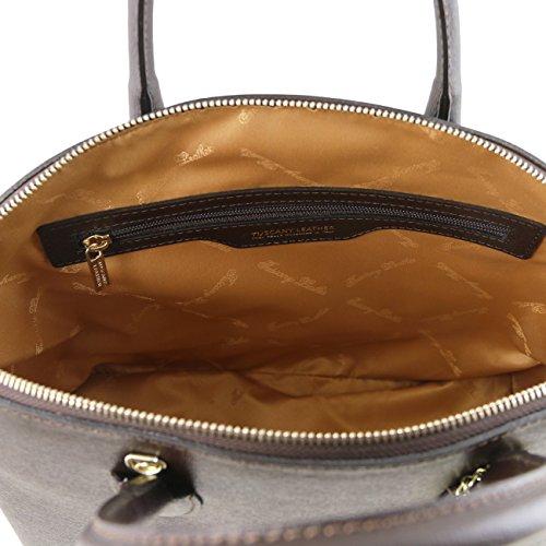 Tuscany Leather TL KeyLuck - Borsa shopper in pelle Saffiano Rosso Borse donna a mano in pelle Testa di Moro